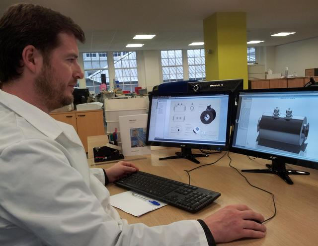 ITS engineer designing a tomography sensor